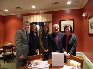 Pictured left to right Joe Tamney of BTC Marketing, Carrie Sullivan - Marketing Director for Athertyn, Cassie Barnes - Athertyn Sales Manager, Todd Pohlig, and Chef Susanna Foo.