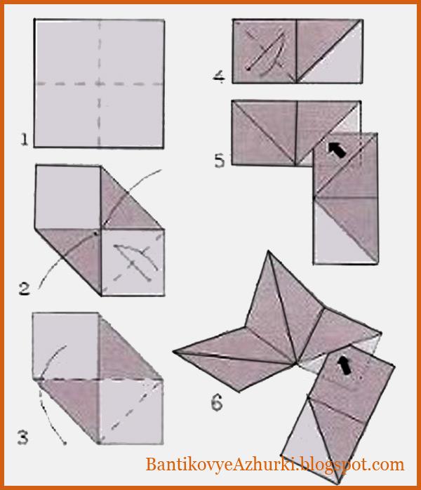 Как сложить из бумаги пятиконечную звезду на елку