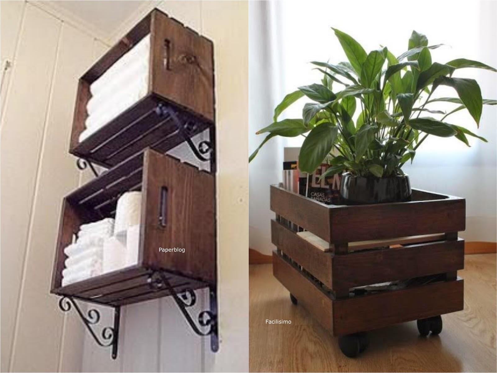 It mum decorar la casa con el diy de cajas de madera deco for Decoracion de madera