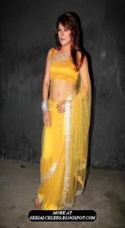 Udita Goswami In Transparent saree