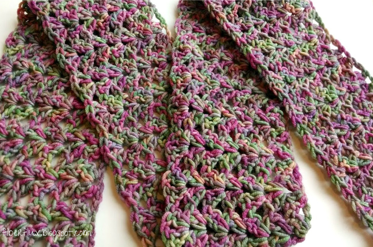Free Crochet Pattern...Tulip Tree Scarf! Fiber Flux...Adventures in ...