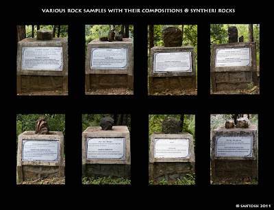 Various rock samples at the Syntheri caves near Dandeli, Bangalore