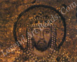 Emperor Alexander. Detail from a Byzantine mosaic, 912-913. Hagia Sophia, Istanbul.