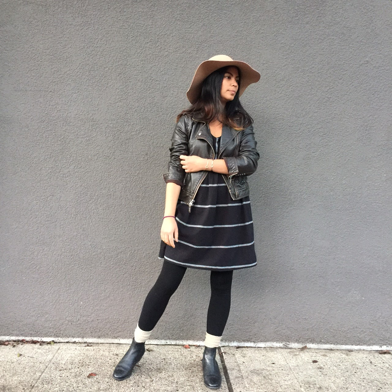 black baby doll dress, wide brim hat, old navy, ross dress for less, bargainista, affordable fashion, portland fashion blogger, ootd, fall fashion, oregon blogger
