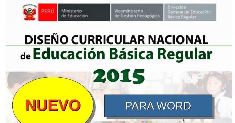 dcn 2015 para word dise o curricular nacional 2015 para On diseno curricular nacional 2016 pdf