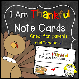 I am Thankful Card by Planet Happy Smiles