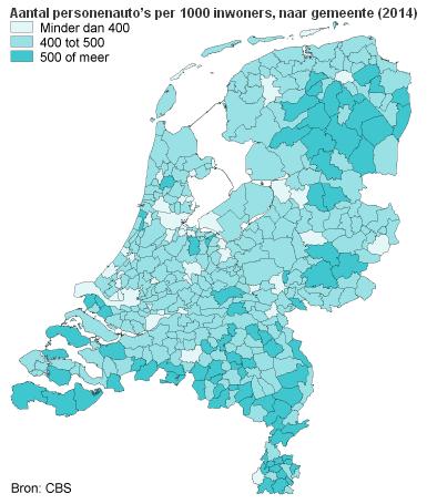 Autobezit in Nederland voor het eerst gedaald
