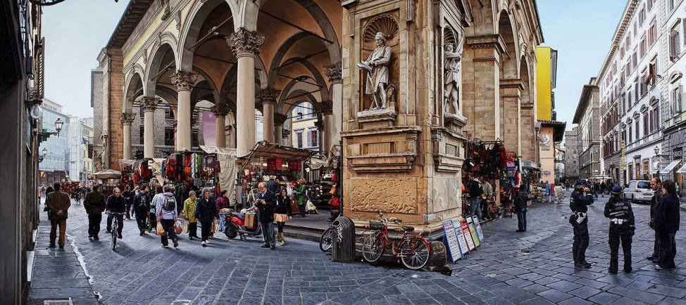 02-Straw-Market-Florence-Italy-Anthony-Brunelli-Cities-&-Architecture-seen-through-Paintings-www-designstack-co