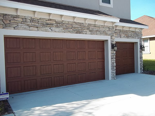 Painting a steel garage door to look like wood in odessa for Paint garage door to look like wood
