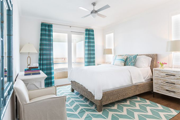 Love This Surya Chevron Rug From Designer Jill Rosenfeld   Fun, Turquoise  Beach Bedroom Colors With A Modern Feel. Image From House Of Turquoise And  Laura U ...