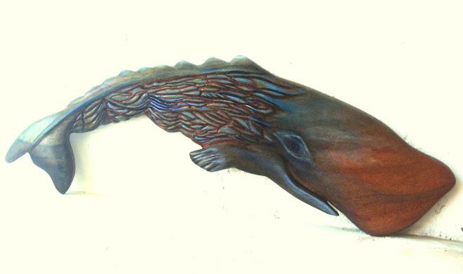 the living ocean, mahogany and acrylic