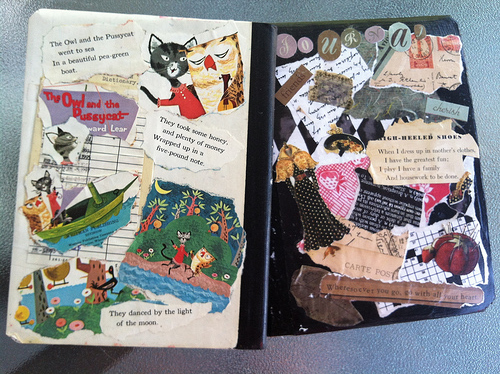 Book Cover Collage : Sharing our notebooks amy zimmer merrill collage journals