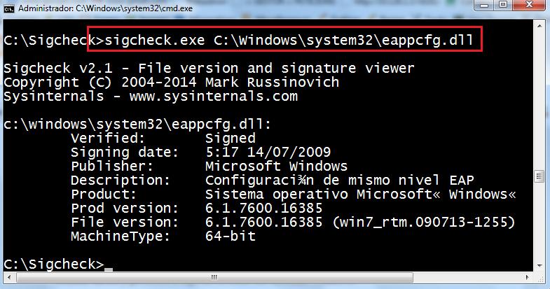 DLL del sistema sobre Windows 7 x64