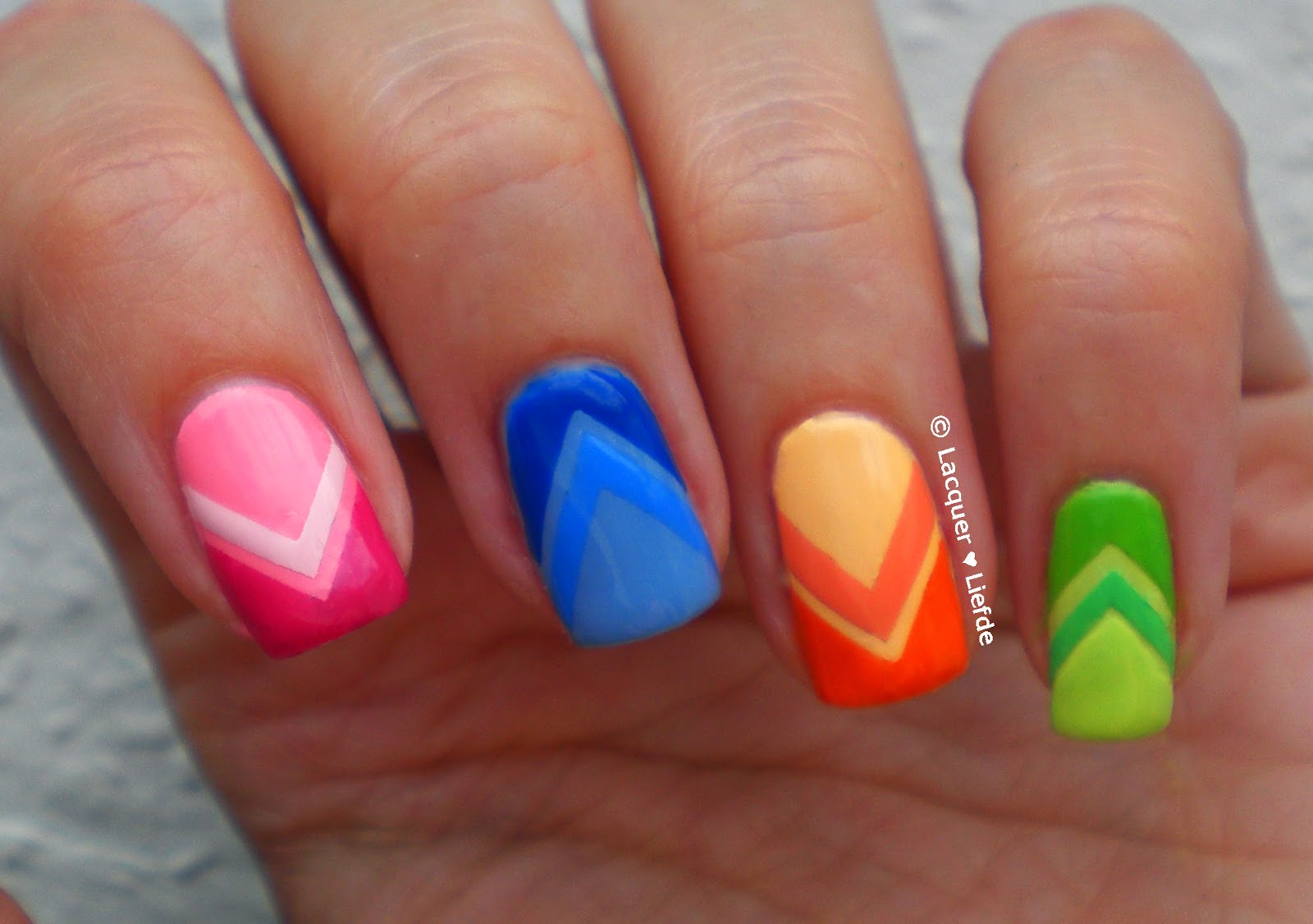 Maybelline Color Show Bleached Neons Skittle Nails