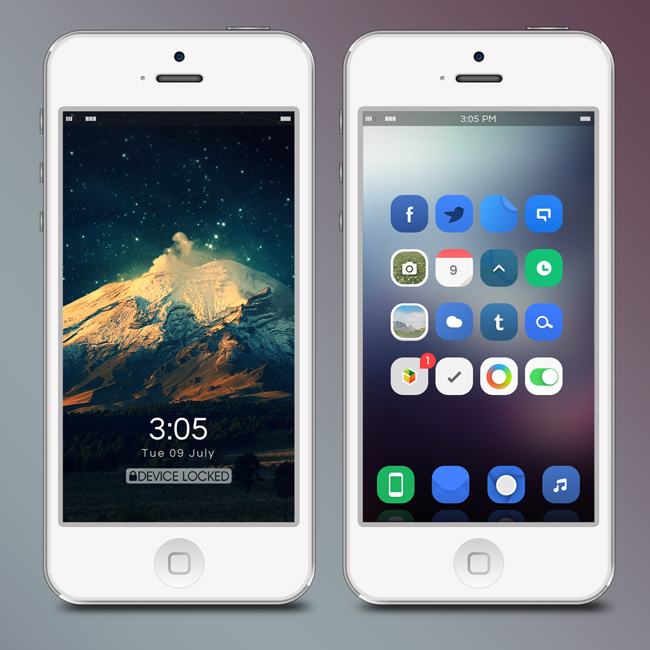ios 7 flat theme for iphone