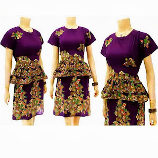 DB3255 Model Baju Dress Batik Modern Terbaru 2013
