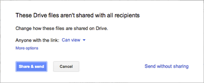 Sharing permissions for Gmail's Insert files using Drive