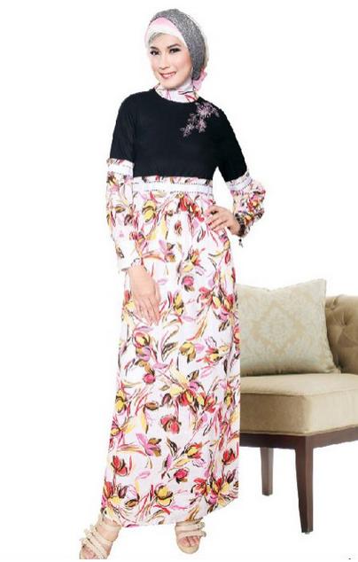 Model%2BBaju%2BMuslim%2BBatik%2BKombinasi%2BBrokat%2BModern model baju muslim batik kombinasi brokat,Model Baju Muslim Variasi Batik