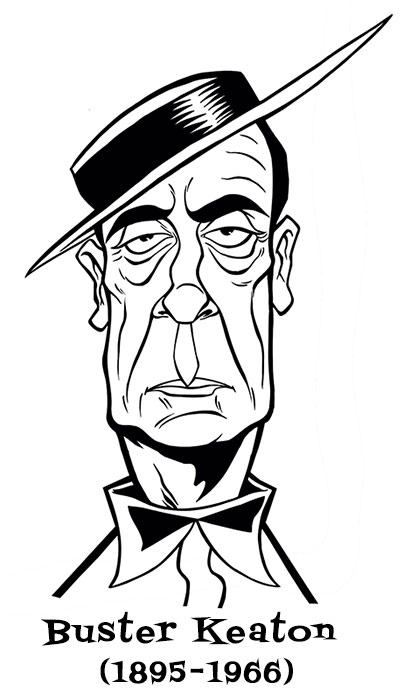 Buster Keaton by Sophie Cossette