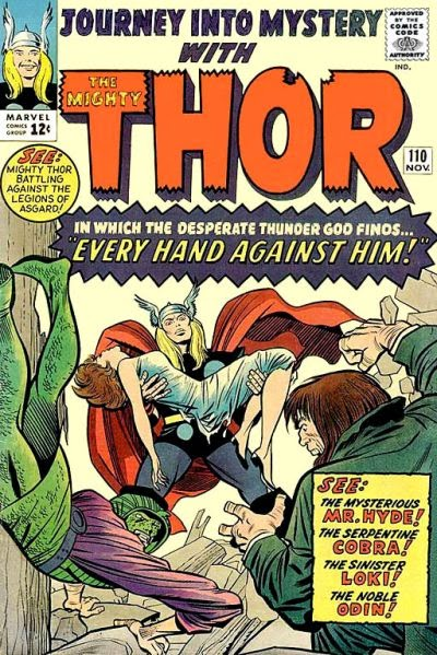Journey Into Mystery #110, Thor vs Mr Hyde and the Cobra