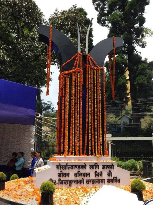 Shahid Diwas in Darjeeling