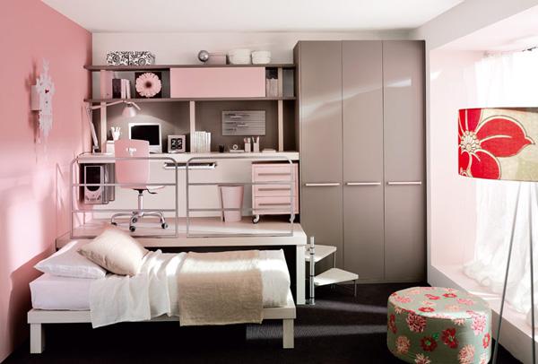 Дизайн для маленькой комнаты подростка девочки