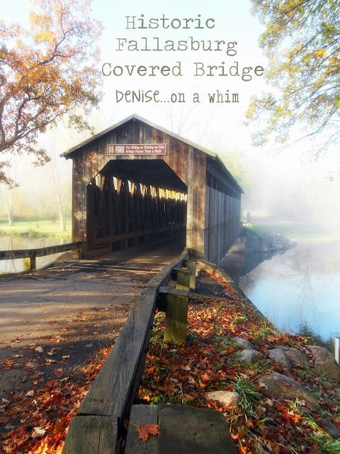 covered bridge, fall colors, historic Lowell