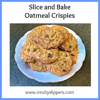 make ahead slice and bake oatmeal cookies