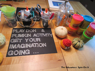 Halloween toddler part: playdough imagination station
