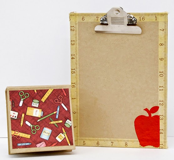 Clipboards, journals and notepads are fun to decorate.