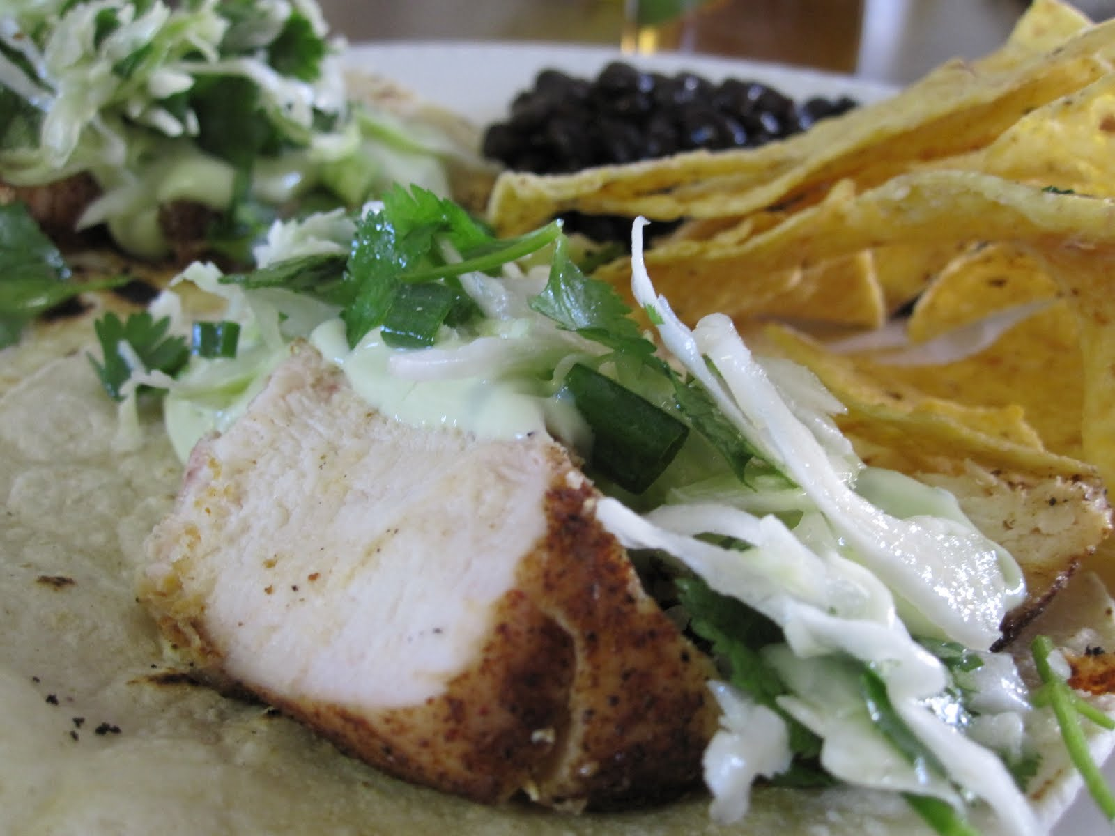 taylor made...: ... Ancho Chicken Tacos with Cilantro Slaw ...