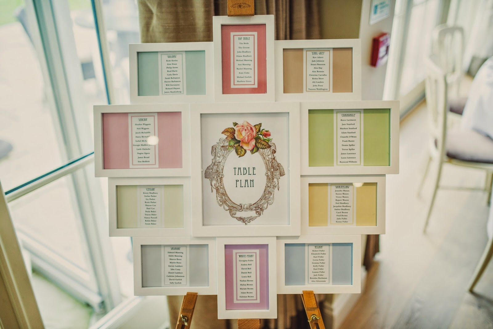 Hips Like Cinderella: My Wedding Table Plan DIY ♥