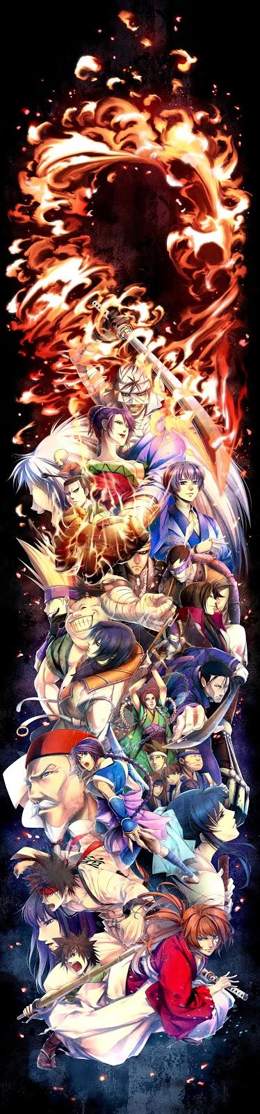 samurai x,anime wallpaper,cool anime wallpaper