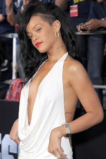 Rihanna Braless & Backless
