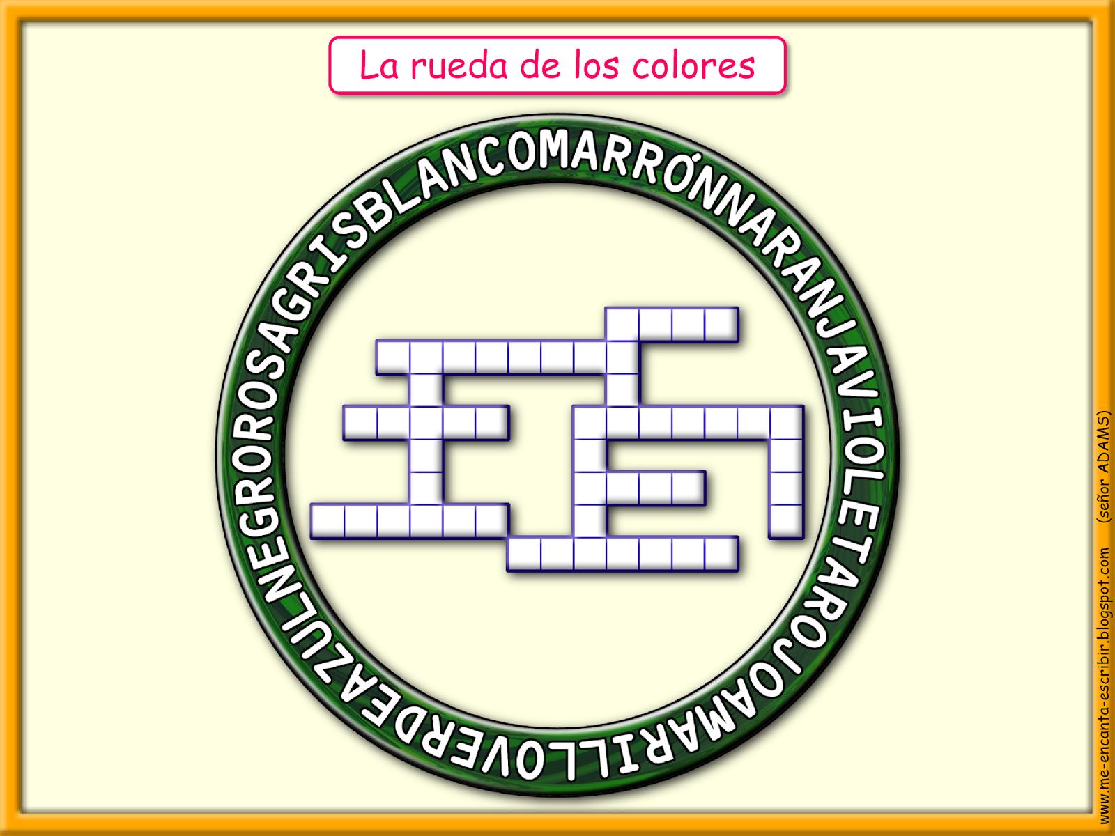 Me encanta escribir en español: La rueda de los colores