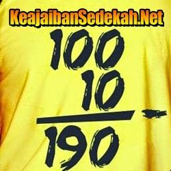 Sedekah 100 menjadi 190