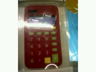 Red Calculator Case for Blackberry 8520