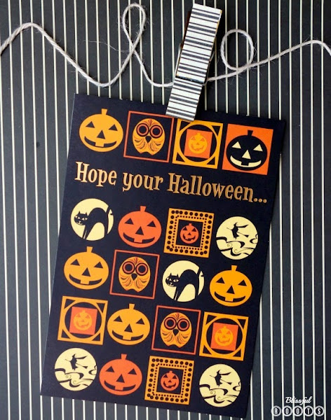 Decorating With Halloween Cards from Blissful Roots