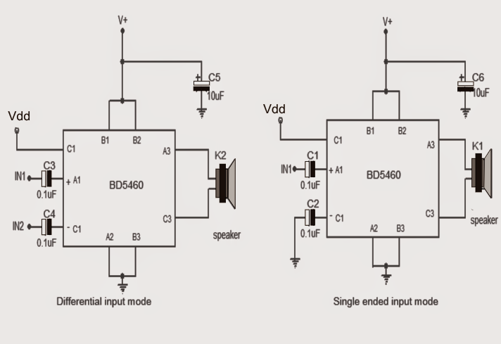 How to Make a 3.7 V Class-D Speaker Amplifier for Differential Analog Input