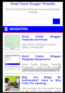 Fast responsive blogger template