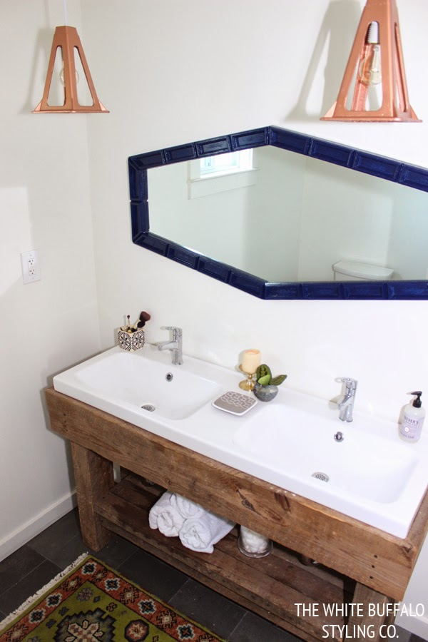 DIY Rustic Eclectic Master Bathroom