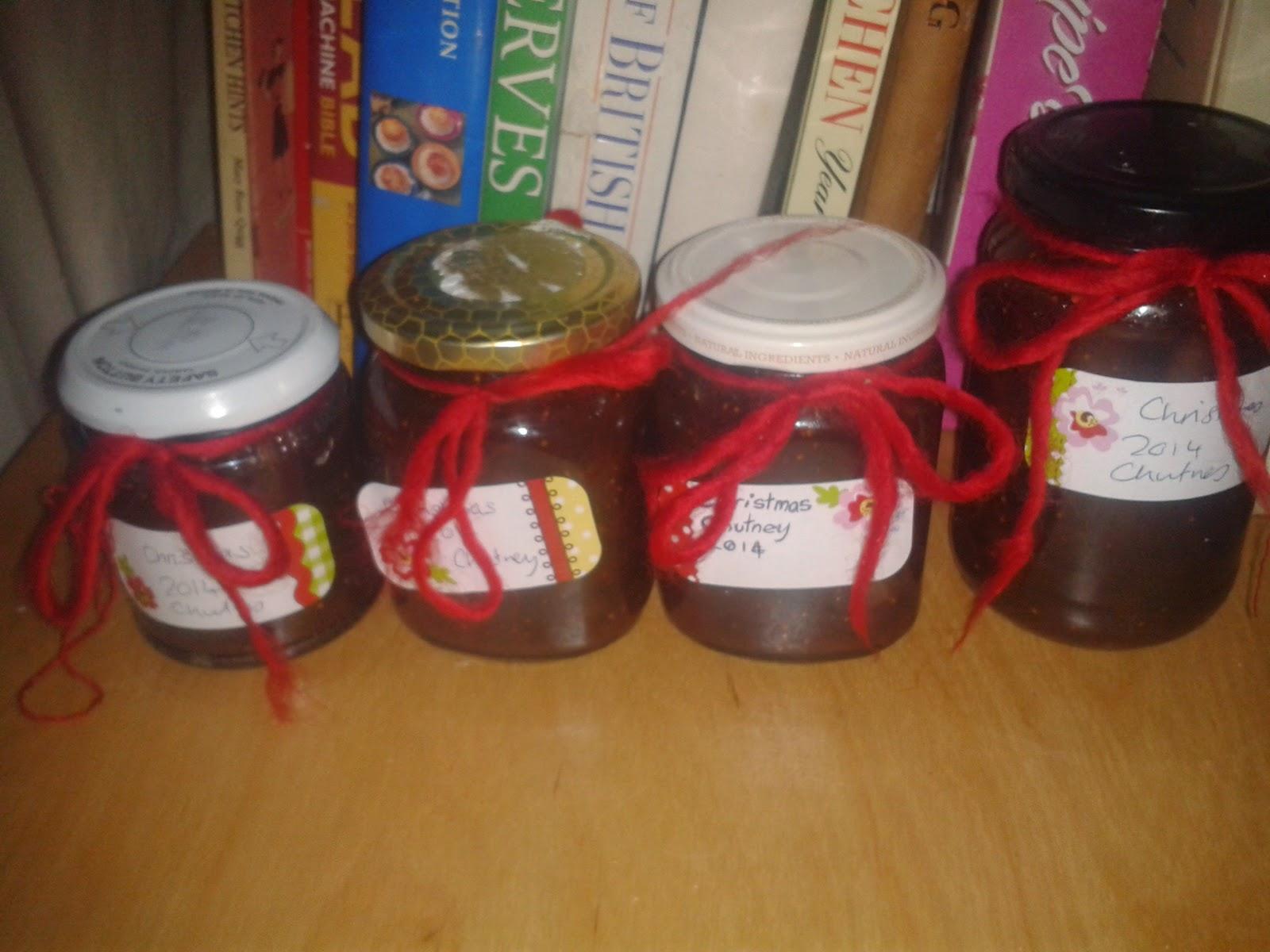 homemade stocking filler- christmas chutney