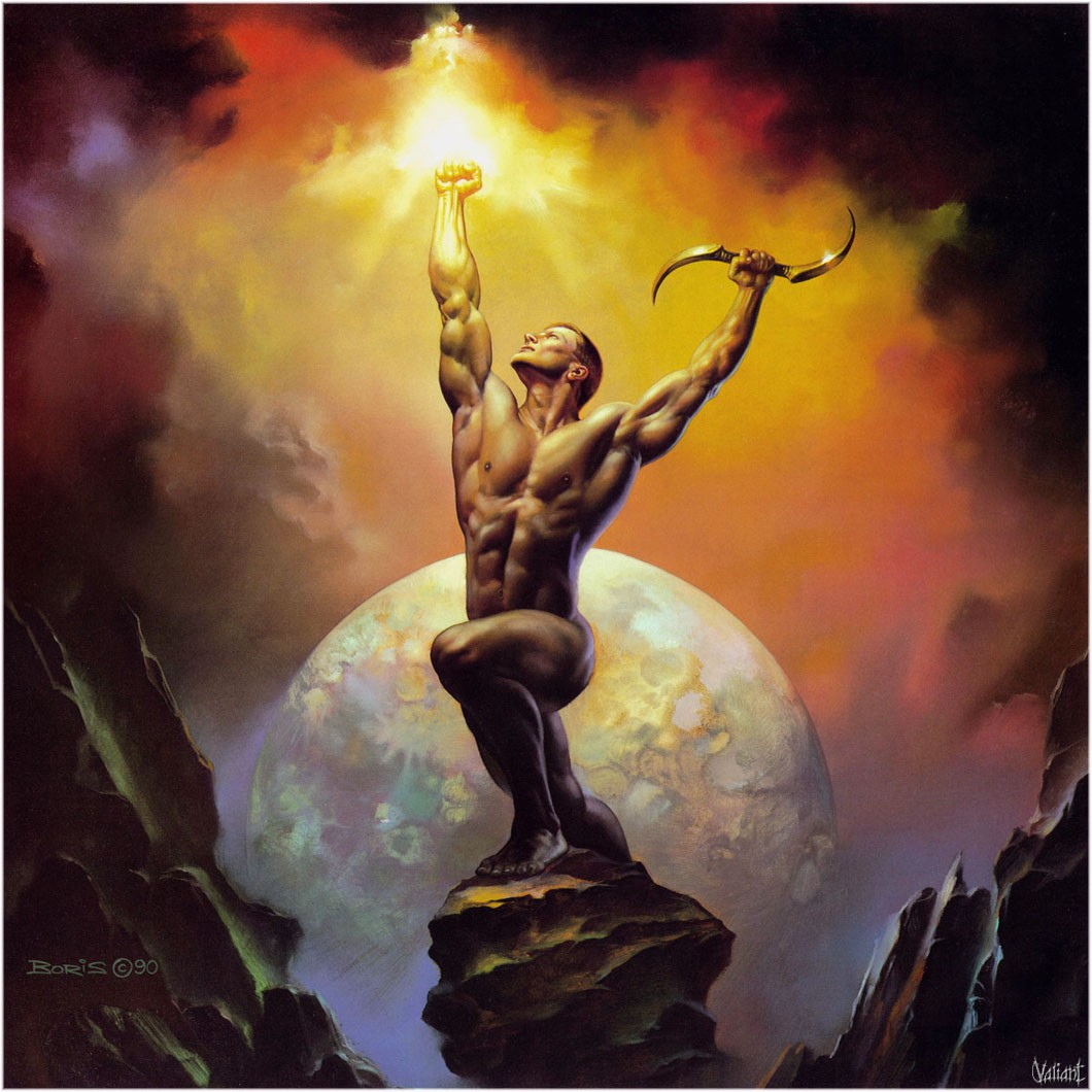 Painting of Boris Vallejo