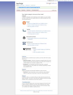 FeedBurner Blog Ekleme ve Besleme Adresi Oluşturma 7 Son