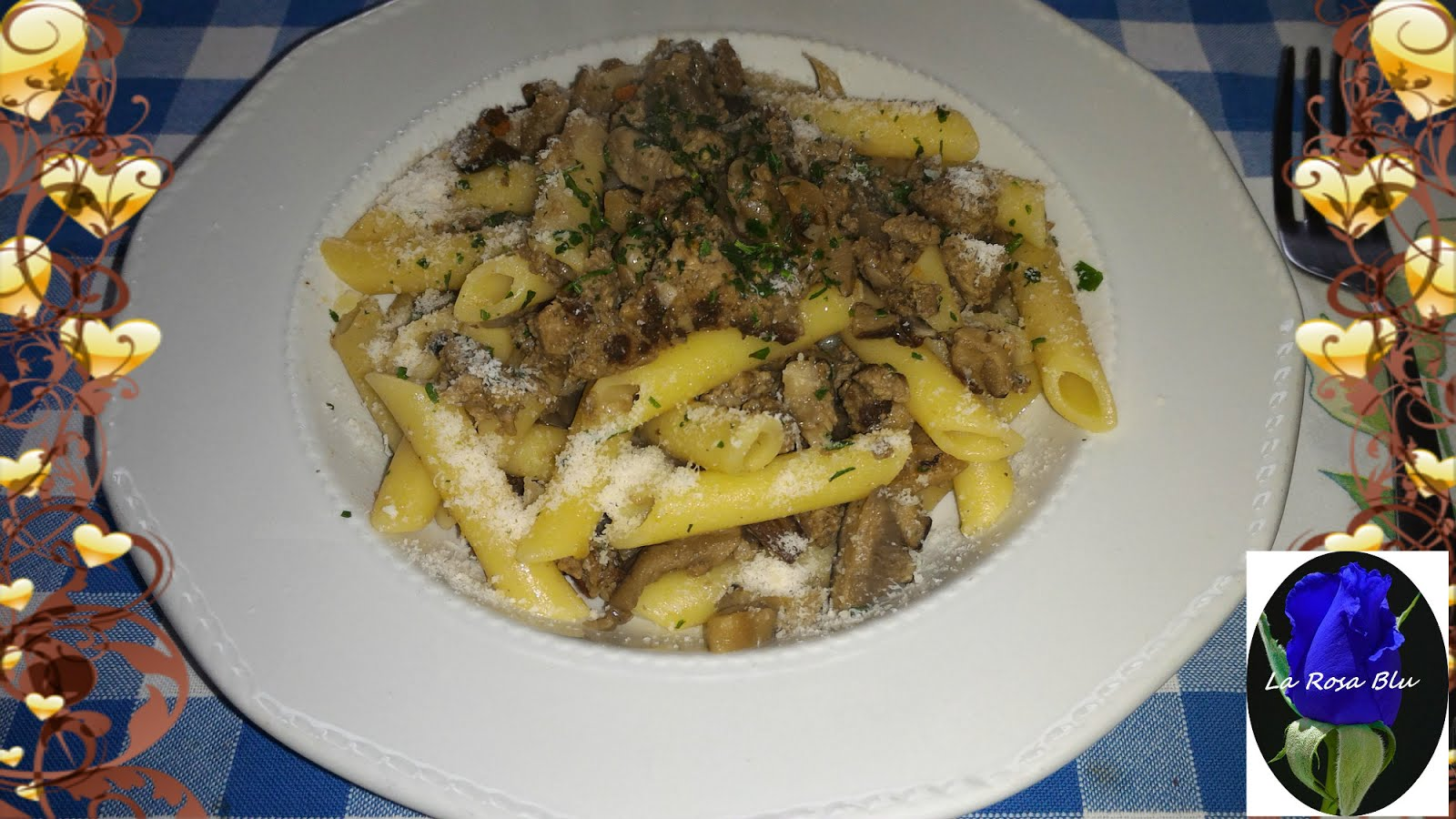 PENNE FUNGHI E MACINATO ( MAGIC COOKER)