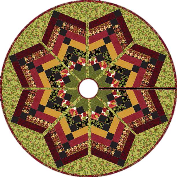 Quilting Pattern For Christmas Tree Skirt : Quilt Inspiration: Free pattern day! Christmas Tree skirts