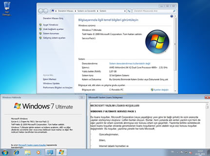 Windows 7 Ultimate Sp1 Türkçe Full Tek Link İndir