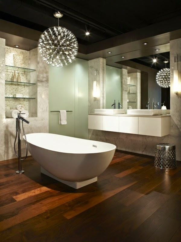 30 cool bathroom ceiling lights and other lighting ideas - Creative lighting ideas ...