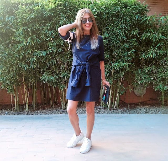 Carmen Hummer, Look, Style, Dress Code, Blue, Mikel Colas, Elena Rial