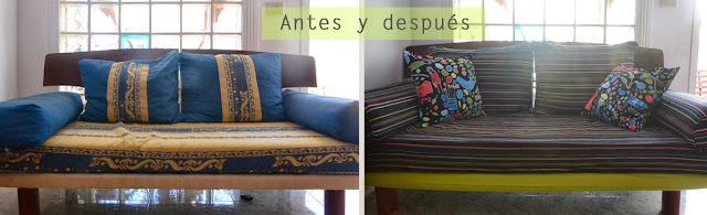 sofa tapizado diy